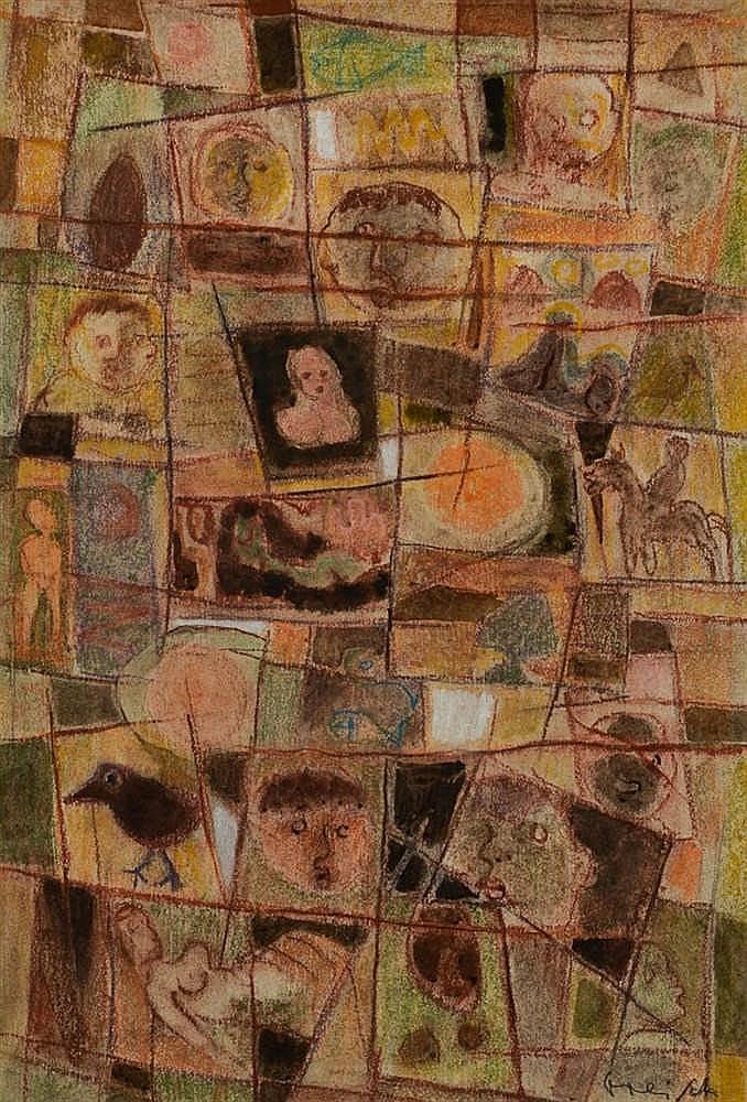 Roger GREISCH (Stockem-Heinsch 1917 - Ouren 1999) Composition aux personna