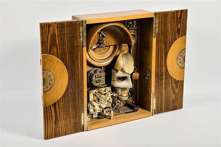 Marc LAFFINEUR (Bomal-sur-Ourthe 1940) Carillon  Bois, résine, carillo