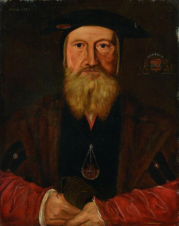 Attribué à Hans MIELICH (Munich 1516-1573) Portrait d'homme  Huile sur