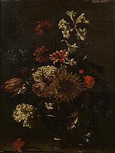 Attribué à Hieronymus GALLE (Anvers 1625-1679) Bouquet de fleurs dans un v