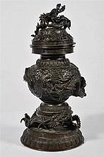 Fr:  un brule parfum bronze, Chine  En:  a bronze incense burne