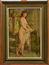 Huile sur toile de Verschaffelt, nu debout