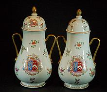 Pair of Chinese Famille Rose Teapots