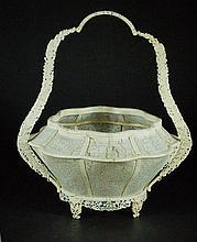 Highly Carved Flower Basket