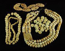 Lot of 4 Bone Necklaces