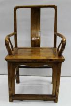 Carved Chinese Wooden Armchair