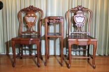 Pair of Rosewood  Chairs and  Stand