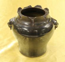 Black Glazed Jar
