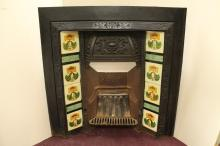 Old Fireplace With Porcelain