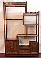 Chinese Rosewood Shelf Cabinet