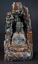 Qing Dynasty  Bronze Buddha Niche