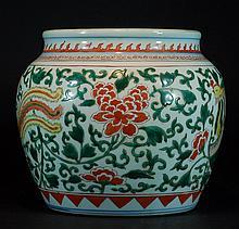 Antique Chinese Wucai Jar