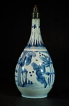 Chinese Antique Blue & White Export Vase