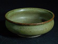 Old Chinese Celadon Glazed Brush Washer