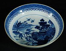 Chinese Blue & White Shallow Bowl