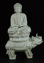 Old Blanc De Chine Buddha Statue