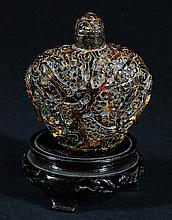 Old Amber Snuff Bottle