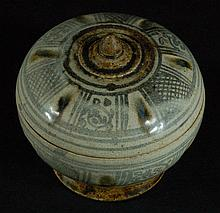 Ming Dynasty Blue And White Lidded Jar