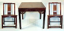 Old Chinese Rosewood Chairs & Table