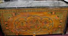 Large Tibetan Lacquer & Painted Storage Cabinet