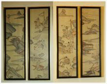 4 piece of Kesi Hanging Screen