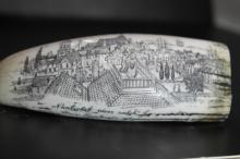 Scrimshawed Carving