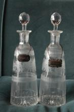 Pair of Glass Decanters
