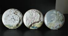 Grouping of 3 Japanese Plates