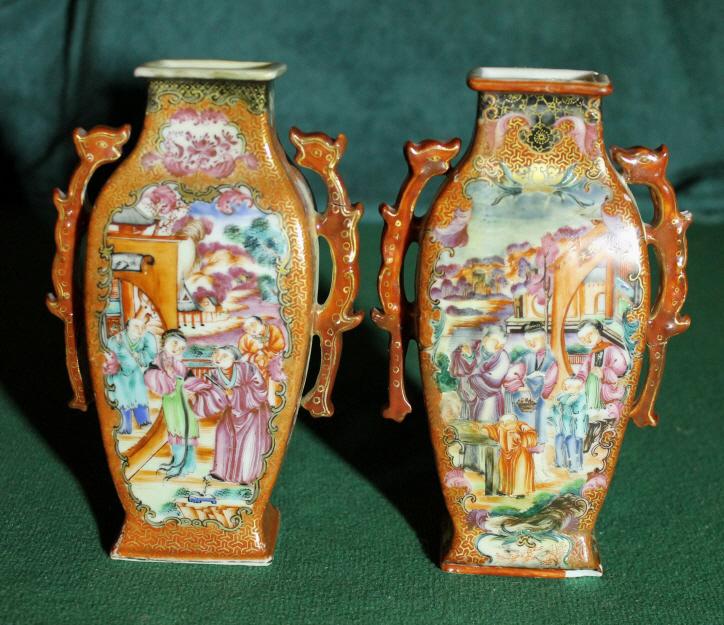 A pair of Qianlong Export Vases