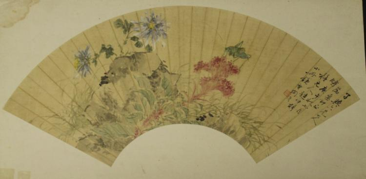 Chinese Fan Painting - Tao Rong