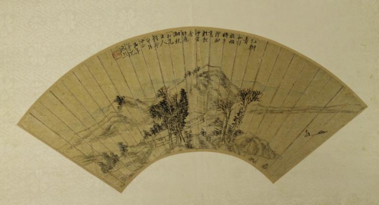 Chinese Fan Painting -Shen Hong Lie