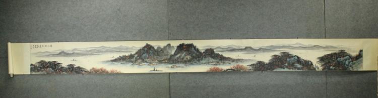 Chinese Landscape Hand-scroll - Li Xiong Cai