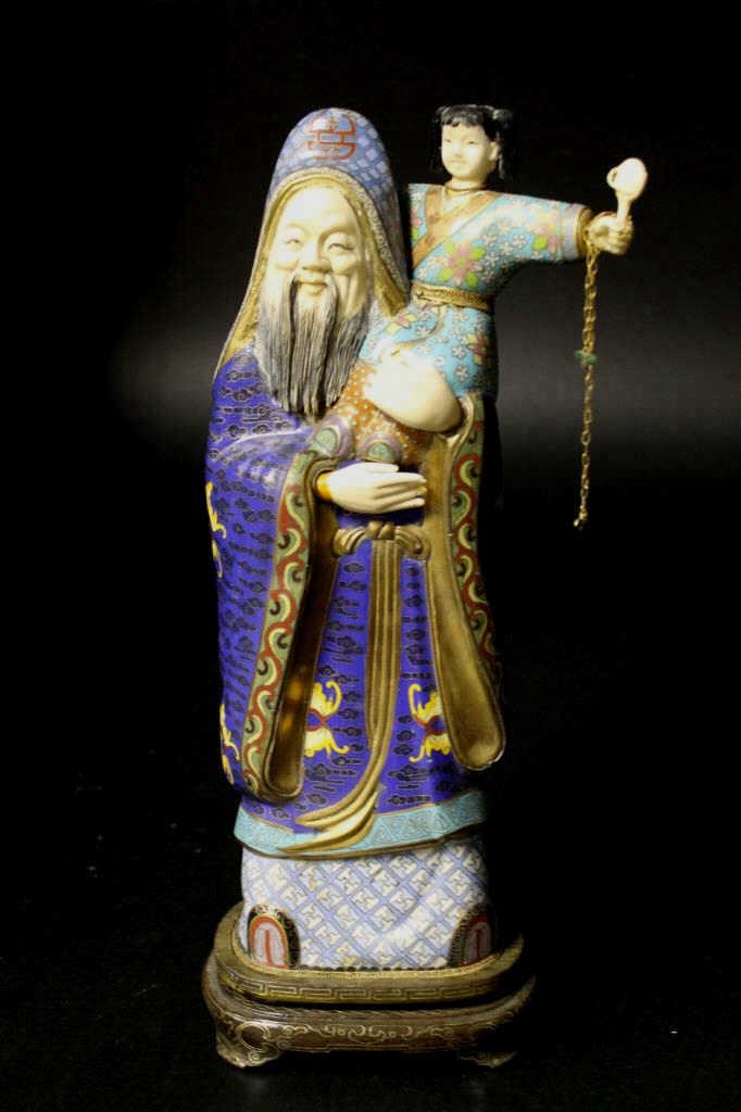 Antique Chinese Cloisonne Figure