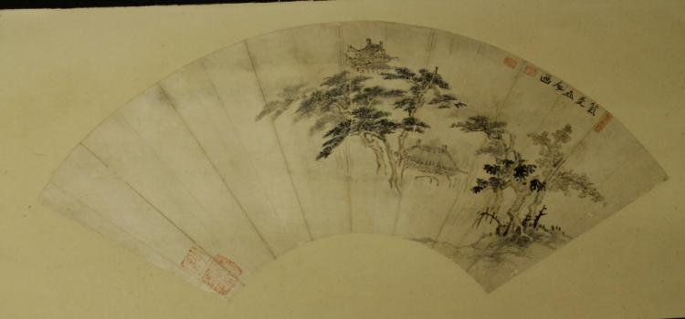 Chinese Fan Painting - Artist Unknown