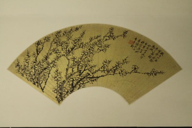 Chinese Fan Painting - Jin De Shu
