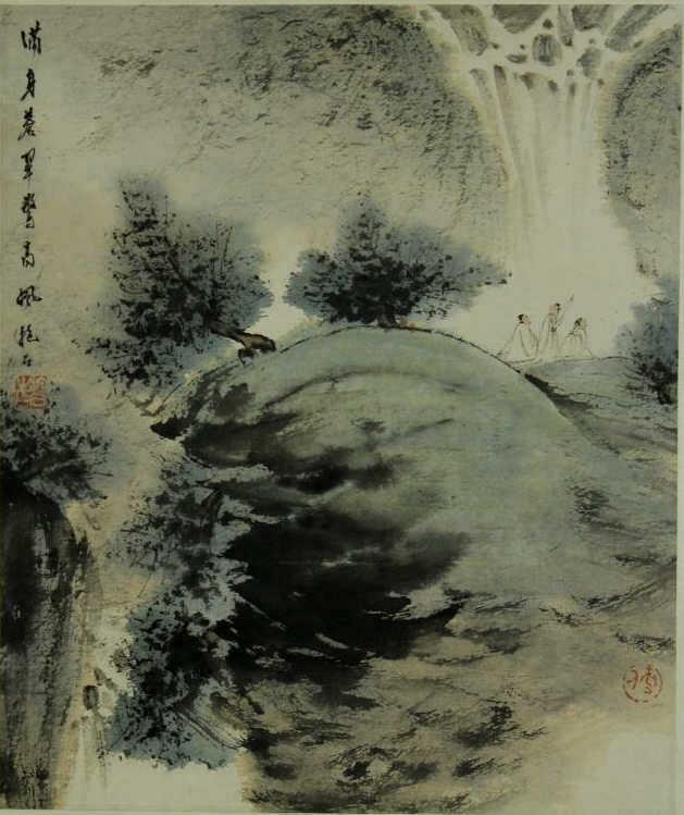 Chinese Watercolor-Fu Baoshi