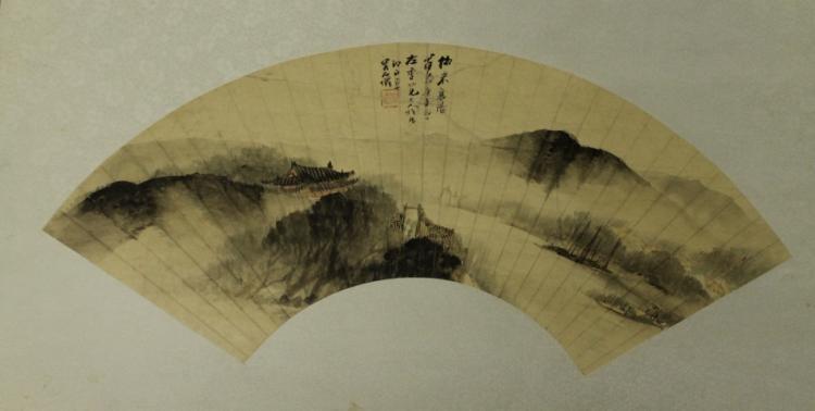 Chinese Fan Painting - Wu Shi Qian