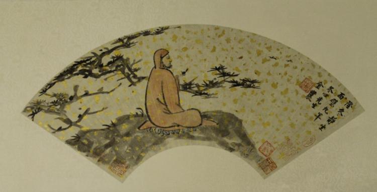 Chinese Fan Painting - Jin Nong
