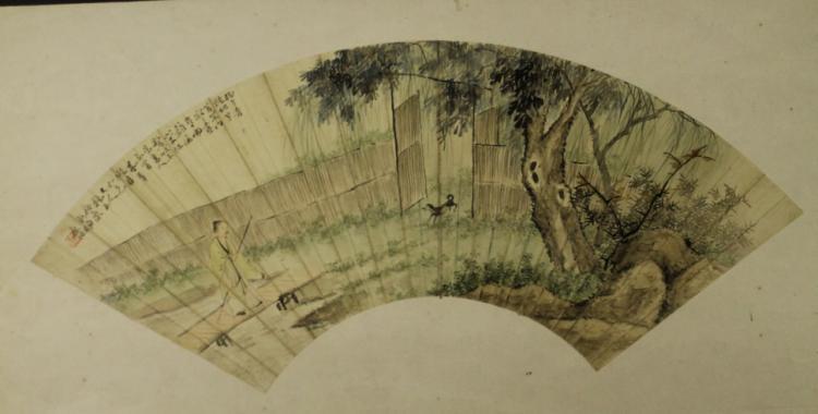 Chinese Fan Painting -Yang Zhu Quan