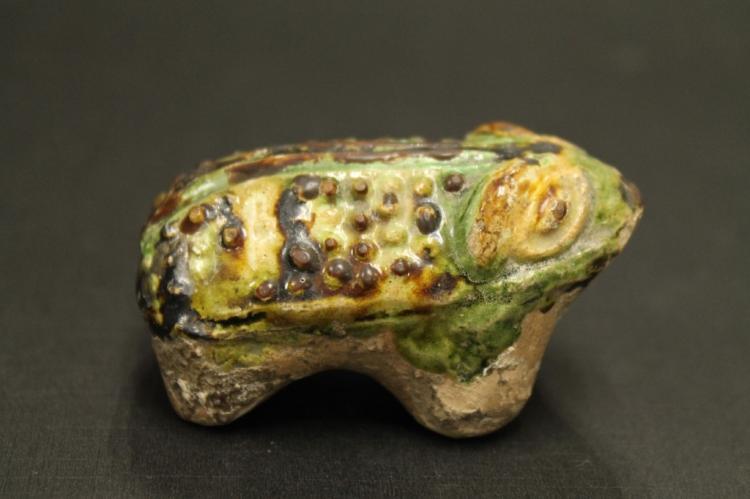 Chinese Glazed Pottery Frog