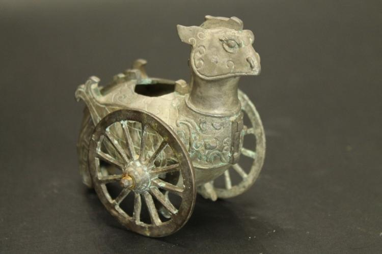Chinese Cast Metal Wagon