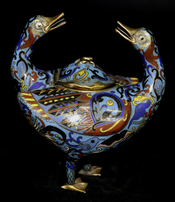 Chinese Qing Dynasty Figural Cloisonne Censer