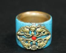 Turquoise Thumb Ring