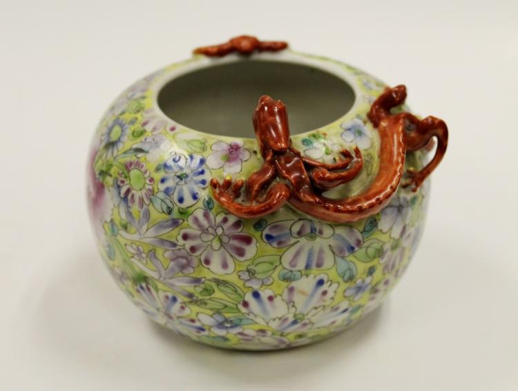 Chinese Qianlong Famille Rose Water Pot