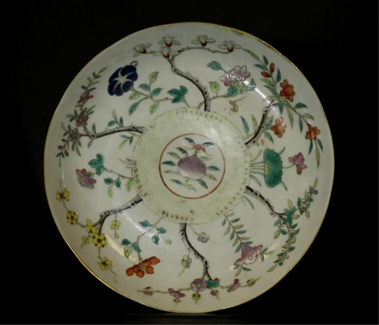 Chinese Fencai Plate