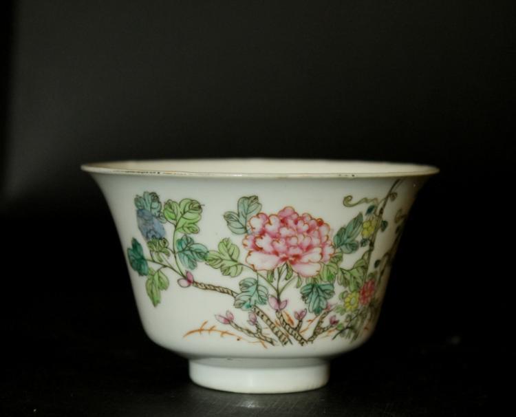 Antique Chinese Fencai Cup