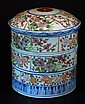 Chinese Famille Verte Stackable Container  1930s