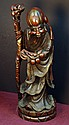 Highly Carved old Hardwood Statue - Longlife God