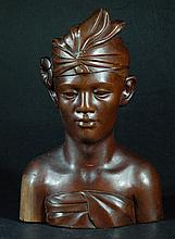 Highly Carved Wood Carving - Man