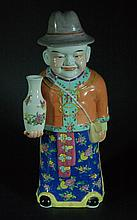 Chinese Famille Rose Small Statue